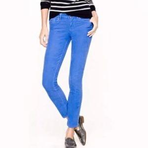 J Crew Periwinkle Toothpick Jeans